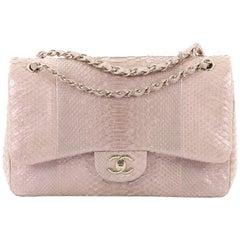 Chanel Classic Double Flap Bag Python Jumbo