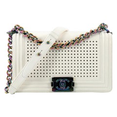 Chanel Boy Flap Bag LED Perforated Leather Small
