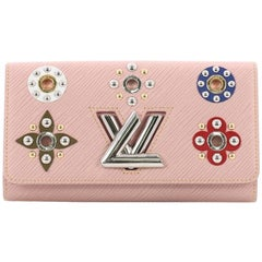 Louis Vuitton Twist Wallet Limited Edition Floral Patchwork Epi Leather