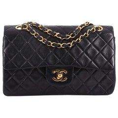 Chanel Vintage Classic Double Flap Tasche gesteppt aus Lammfell klein