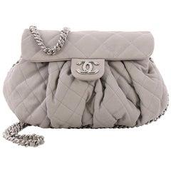 Chanel Kette um Lasche Tasche gesteppt Leder Medium