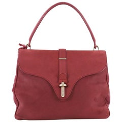 Balenciaga Tube Square Handbag Suede Small