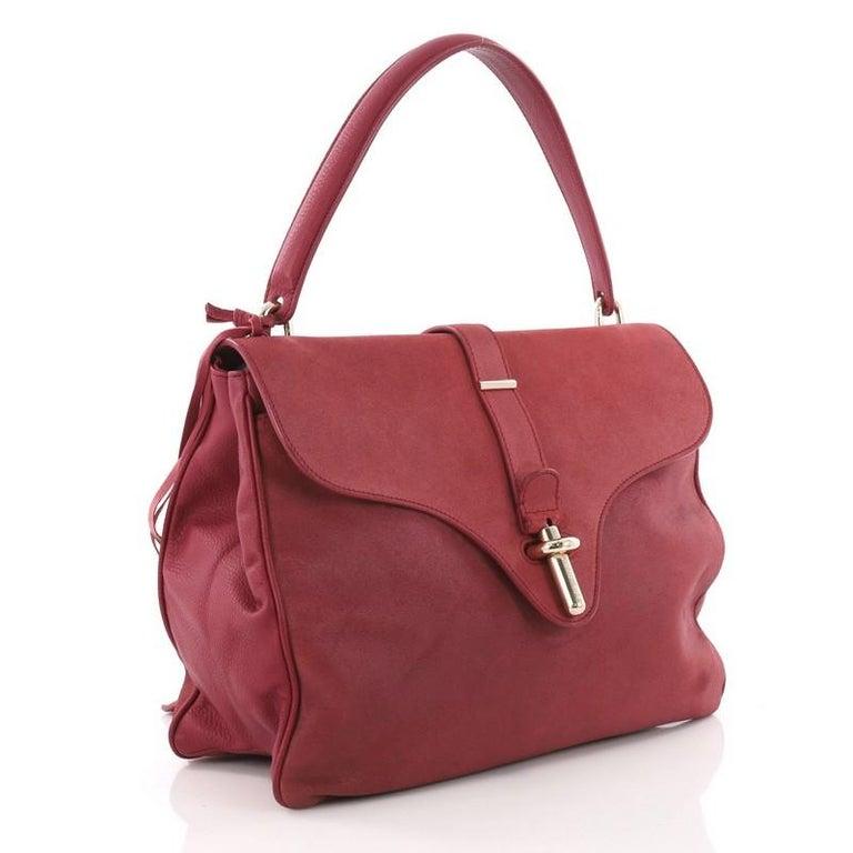 d273836e44 Brown Balenciaga Tube Square Handbag Suede Small For Sale