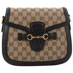 Gucci Lady Web Shoulder Bag GG Canvas Medium