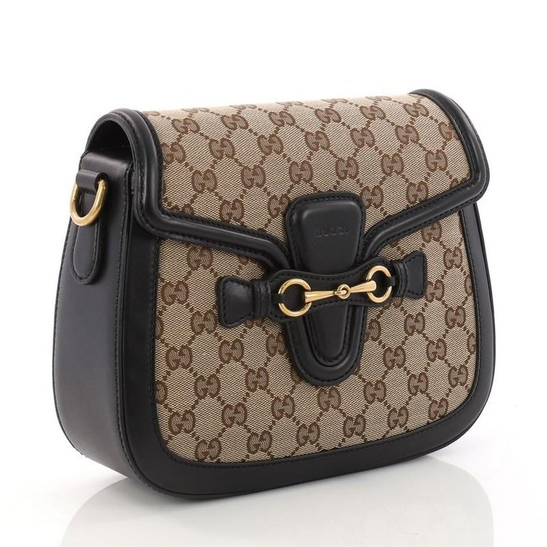 87eb05cd81bbb9 Gucci Lady Web Shoulder Bag GG Canvas Medium In Excellent Condition For  Sale In New York