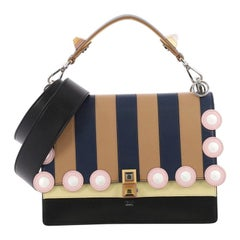 Fendi Eyelet Kan I Handbag Leather Medium