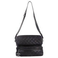 Chanel Casual Rock Airlines Shoulder Bag Quilted Goatskin Medium