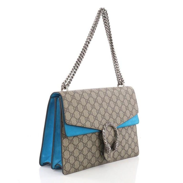 f6694294296c Gray Gucci Dionysus Handbag GG Coated Canvas Medium For Sale