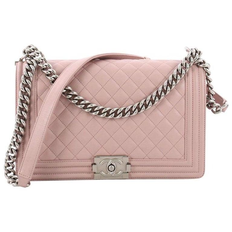 3a85a1bd16be Chanel Boy Flap Bag Quilted Calfskin New Medium at 1stdibs