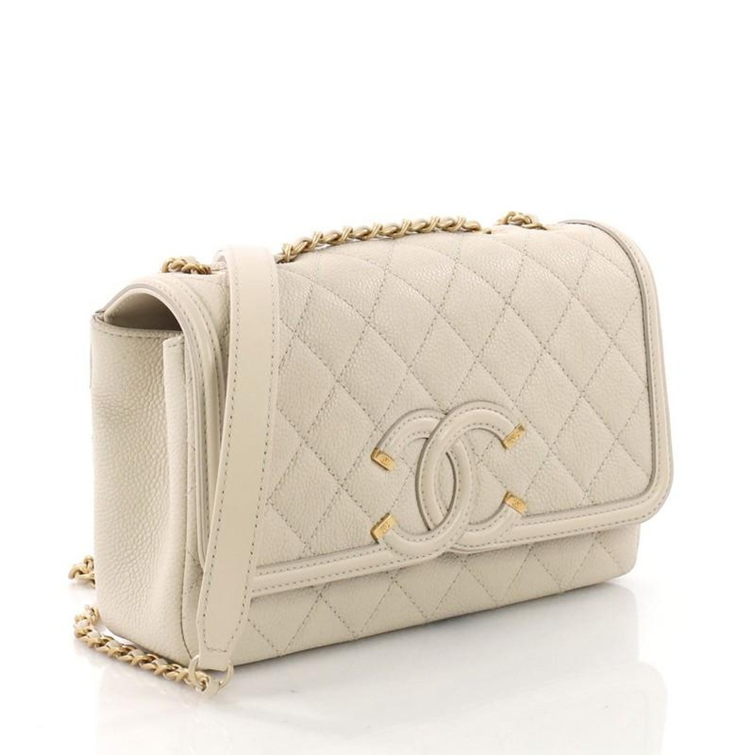 d2f8b8181195 Chanel Filigree Flap Bag Quilted Caviar Small at 1stdibs