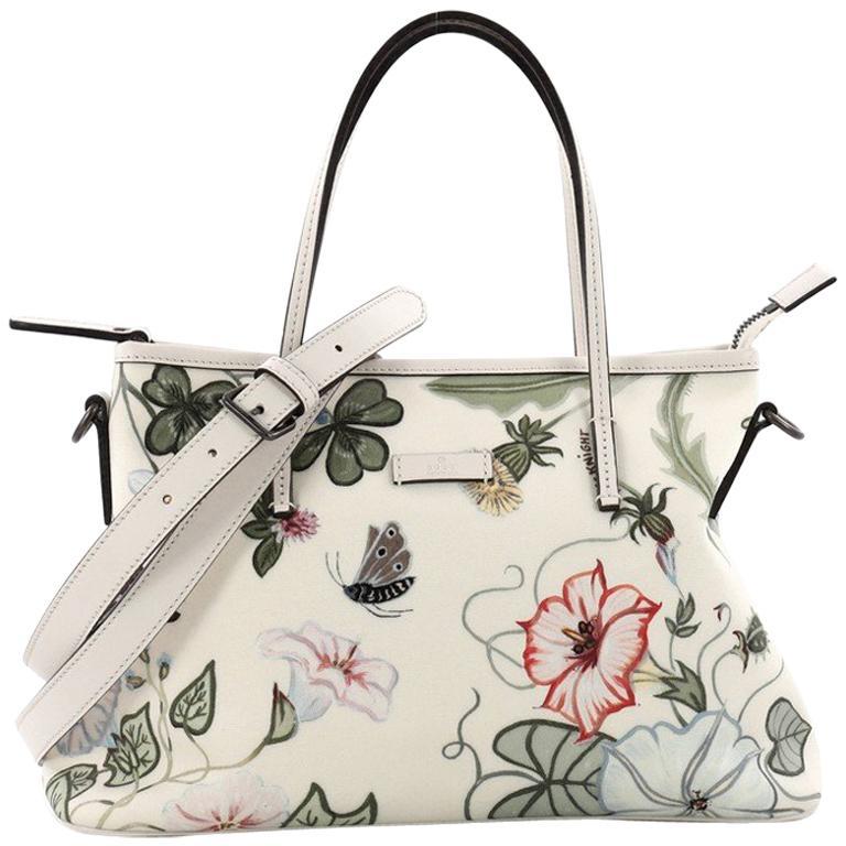 e360edaa53a Gucci Convertible Zip Tote Flora Canvas Medium For Sale at 1stdibs