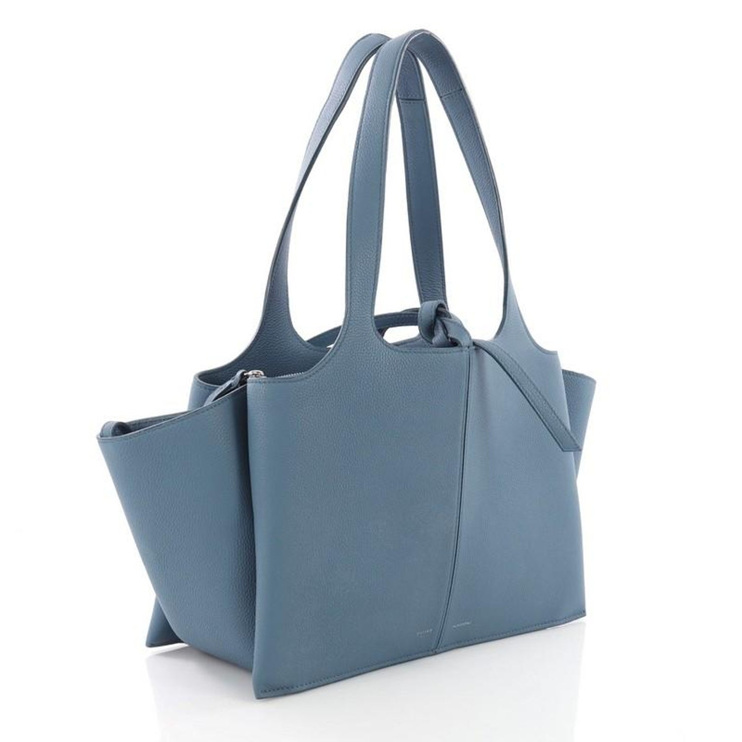 Celine Tri-Fold Shoulder Bag Grained Calfskin Small For Sale at 1stdibs cfb0575214d7c