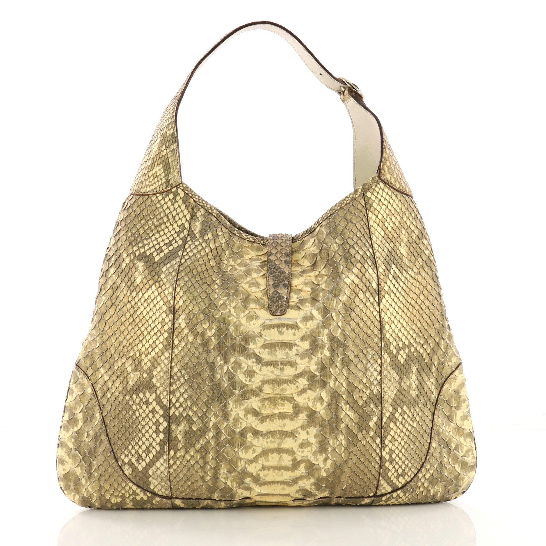 ddafca311 Gucci Jackie O Handbag Python Large at 1stdibs