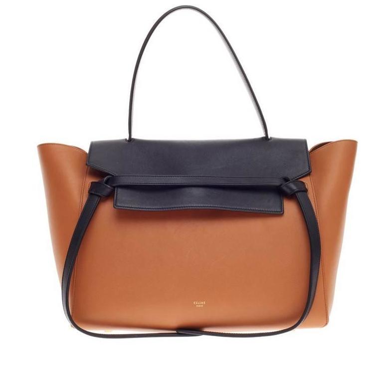 belt bag bicolor leather small at 1stdibs