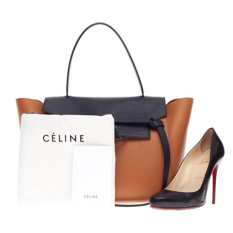 This authentic Celine Belt Bag Bicolor Leather Small presented in the  brand s Fall 2014 Collection is ddb0685dc9