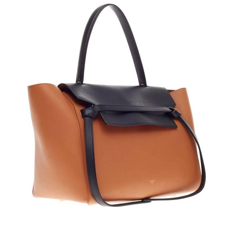 Celine Belt Bag Bicolor Leather Small In Good Condition For Sale In New  York, NY 4992011b0b