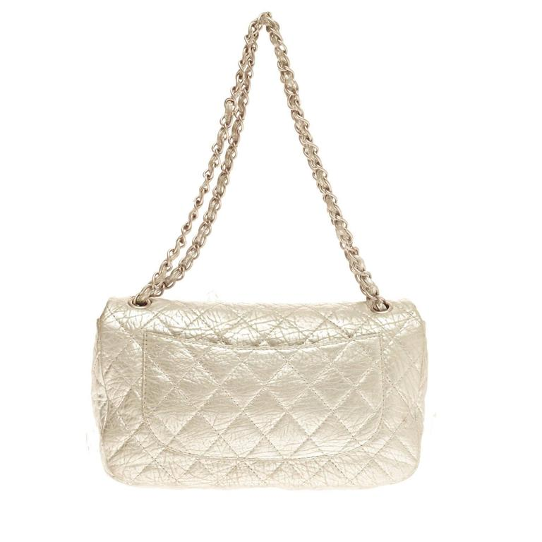 24043d7cc32a Chanel Limited Edition Ice Cube Flap Bag Quilted Calfskin Jumbo In Good  Condition For Sale In