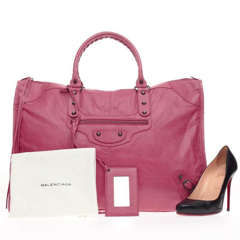 Balenciaga Weekender Classic Studs Leather  2