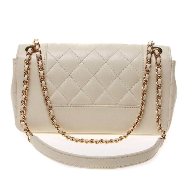 Beige CHANEL Mademoiselle Vintage Flap Bag For Sale 2409fdca13