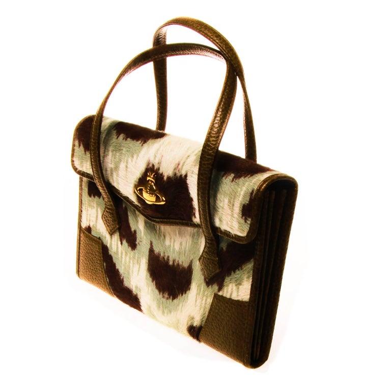 Vivienne Westwood Ponyhair Wallet Handbag For Sale