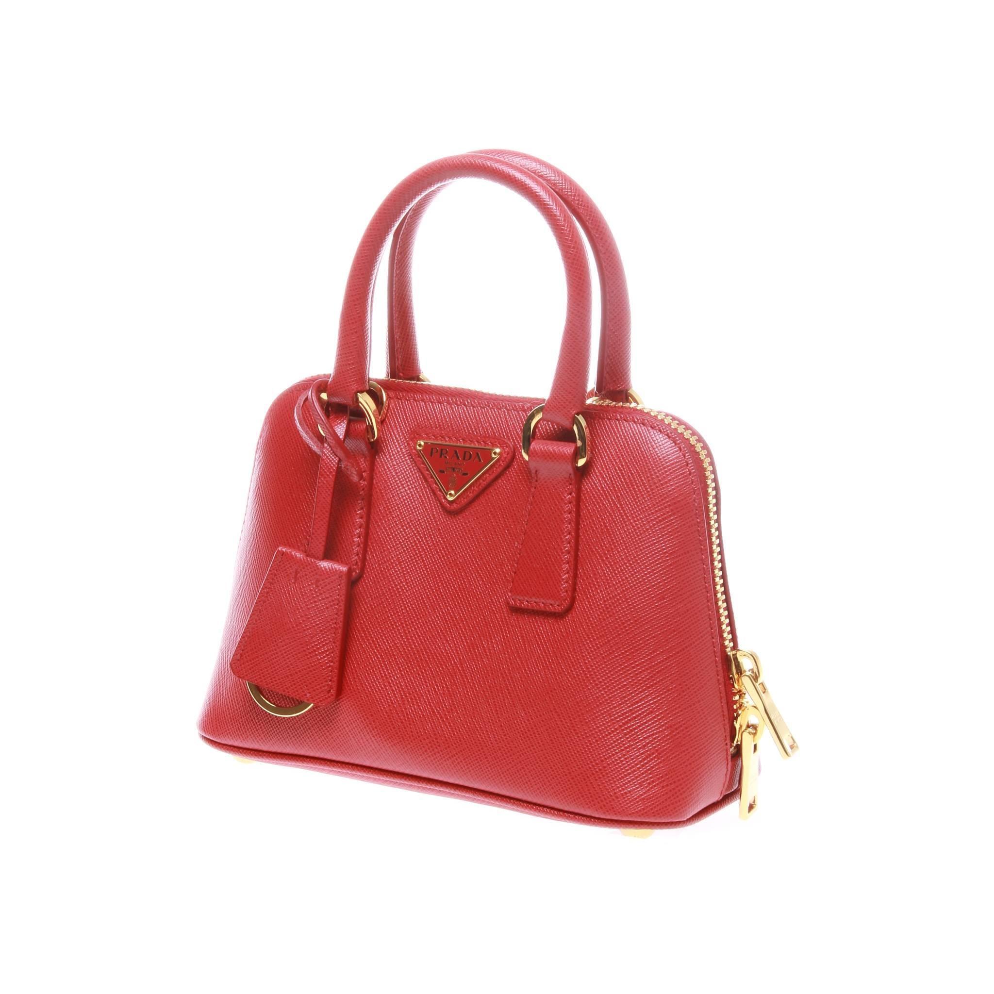 ... where can i buy prada saffiano lux mini promenade bag beautifully  structured in a dome silhouette ... d6cf86a955e27