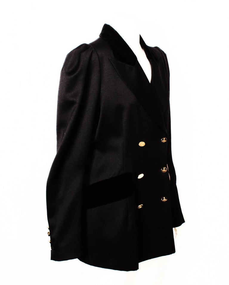 Women's Vivienne Westwood Black Double Breasted Jacket For Sale