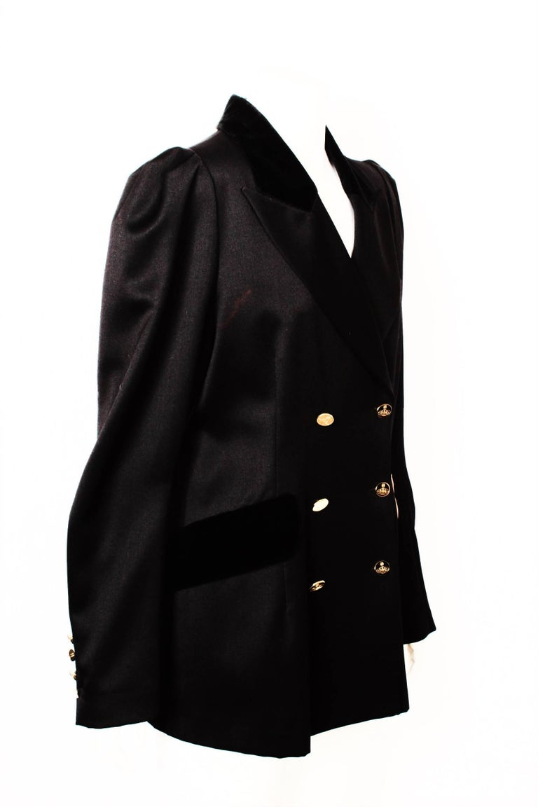 Vivienne Westwood Black Double Breasted Jacket For Sale 1