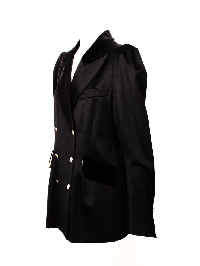Vivienne Westwood Black Double Breasted Jacket For Sale 2