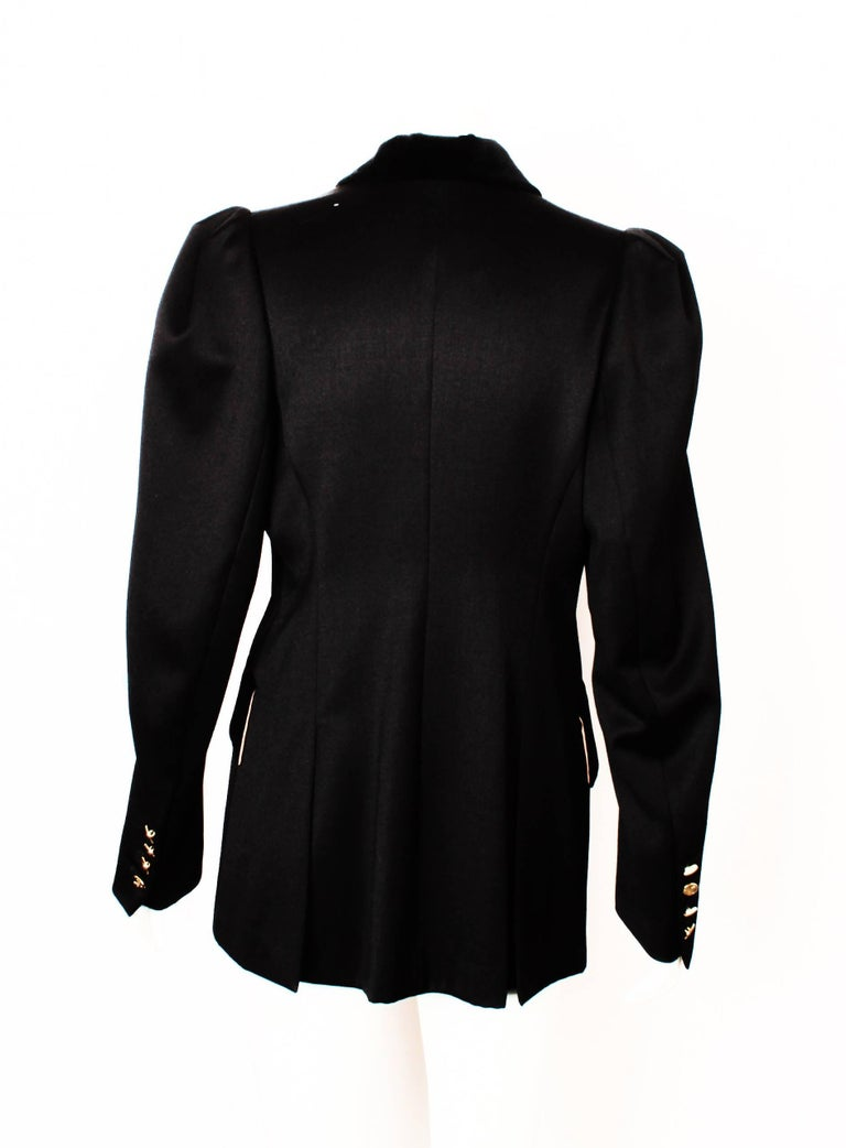 Vivienne Westwood Black Double Breasted Jacket In Excellent Condition For Sale In Melbourne, Victoria