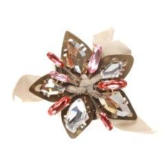 Lanvin Gold-tone Metal Flower Cuff