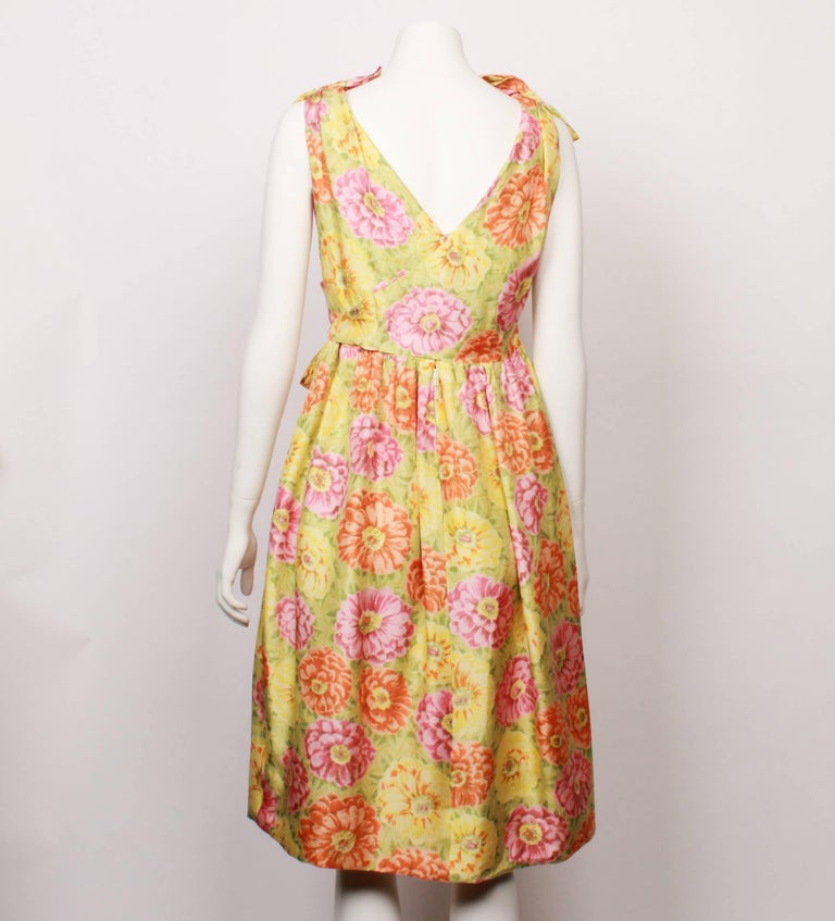 Beige Christian Dior Demi Couture Party Dress, 1960s  For Sale