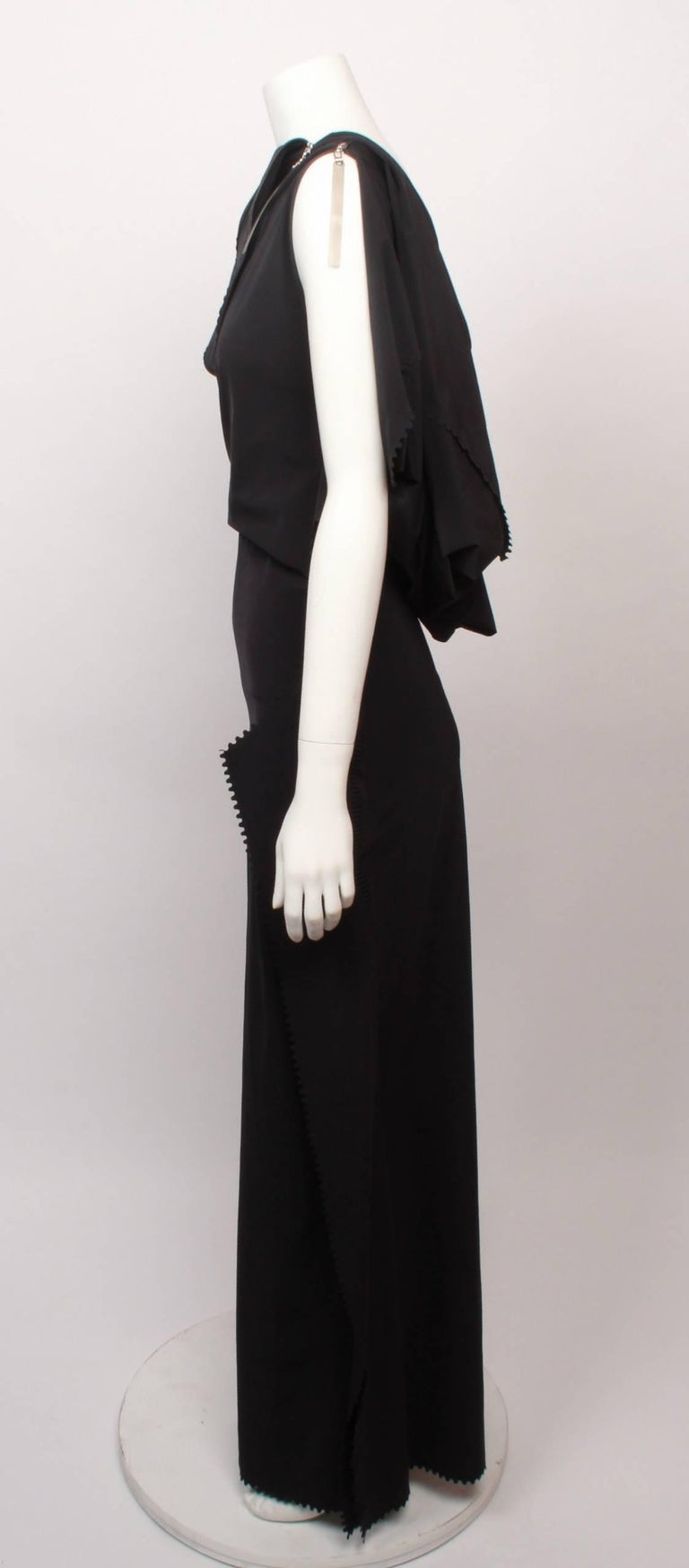 Issey Miyake Long Black Art Wear Dress  M For Sale 1
