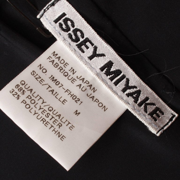 Issey Miyake Long Black Art Wear Dress  M For Sale 6