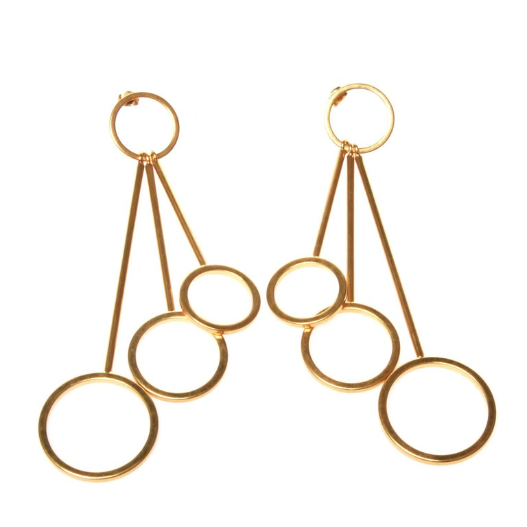 Marni Golden Circle Earrings For Sale At 1stdibs