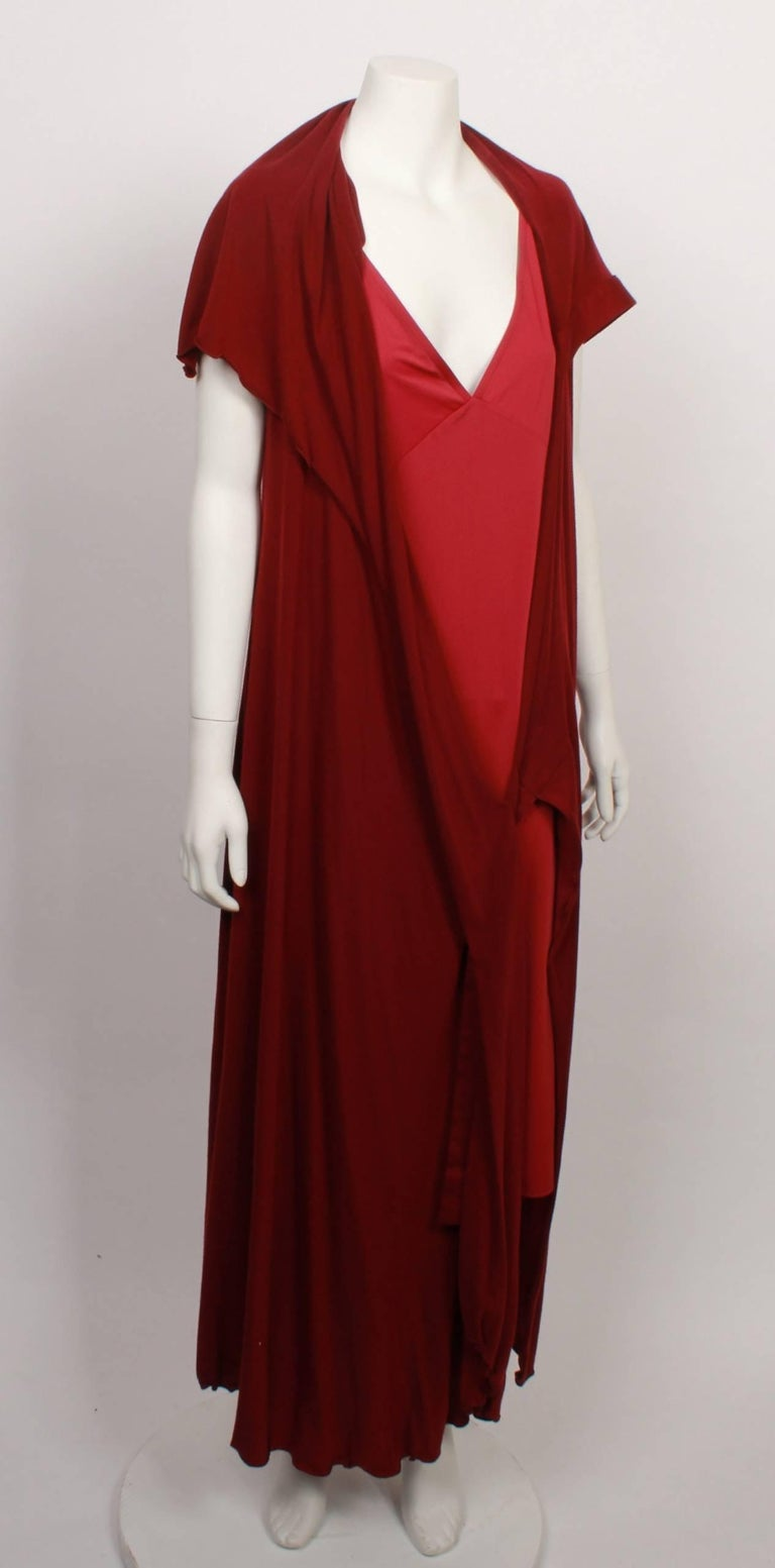 Women's Issey Miyake Long Stretch Wrap and Under Slip Dress For Sale