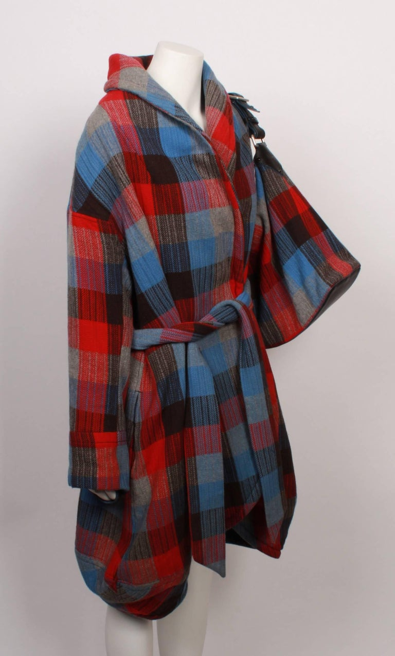 Marc Jacobs Checked Wrap Coat & Matching Bag In Good Condition For Sale In Melbourne, Victoria