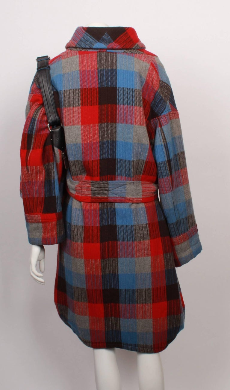 Black Marc Jacobs Checked Wrap Coat & Matching Bag For Sale