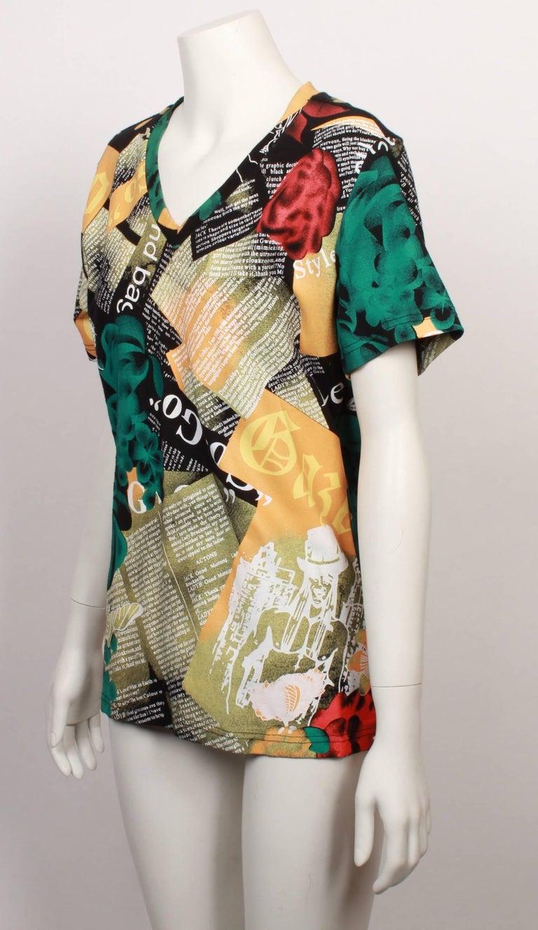 18b8cff0 John Galliano printed T-Shirt from the Beach Wear range. Never worn with  original