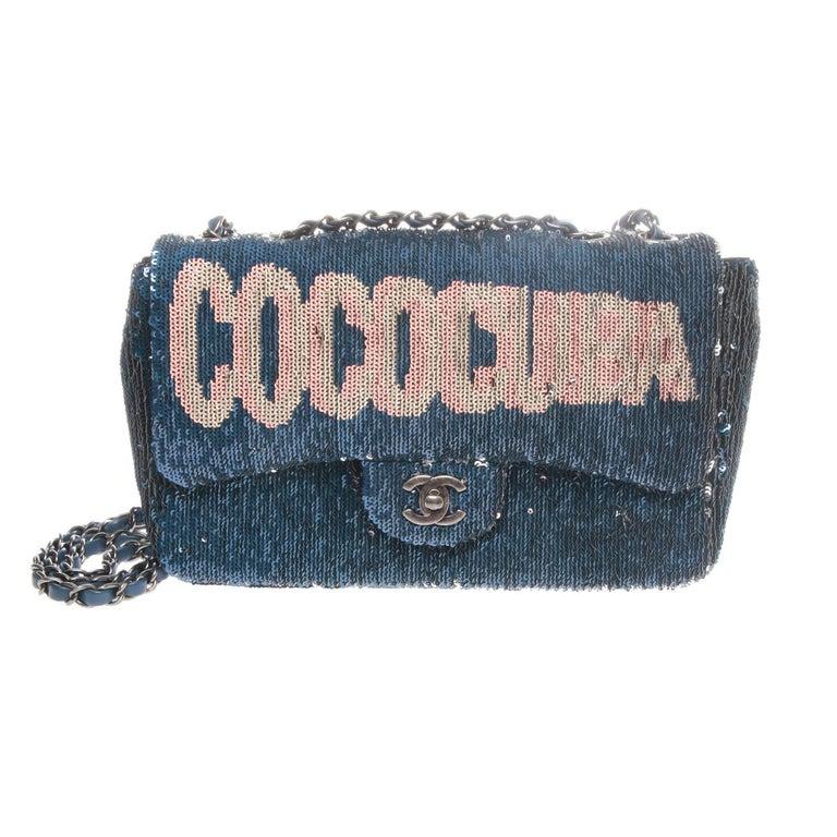 Chanel Cruise 2017 COCOCUBA Sequin Flap Bag