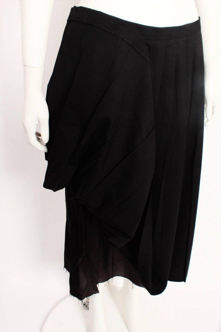 Women's Martin Margiela Pleated Deconstructed Skirt For Sale