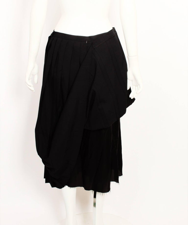 Martin Margiela Pleated Deconstructed Skirt In Good Condition For Sale In Melbourne, Victoria