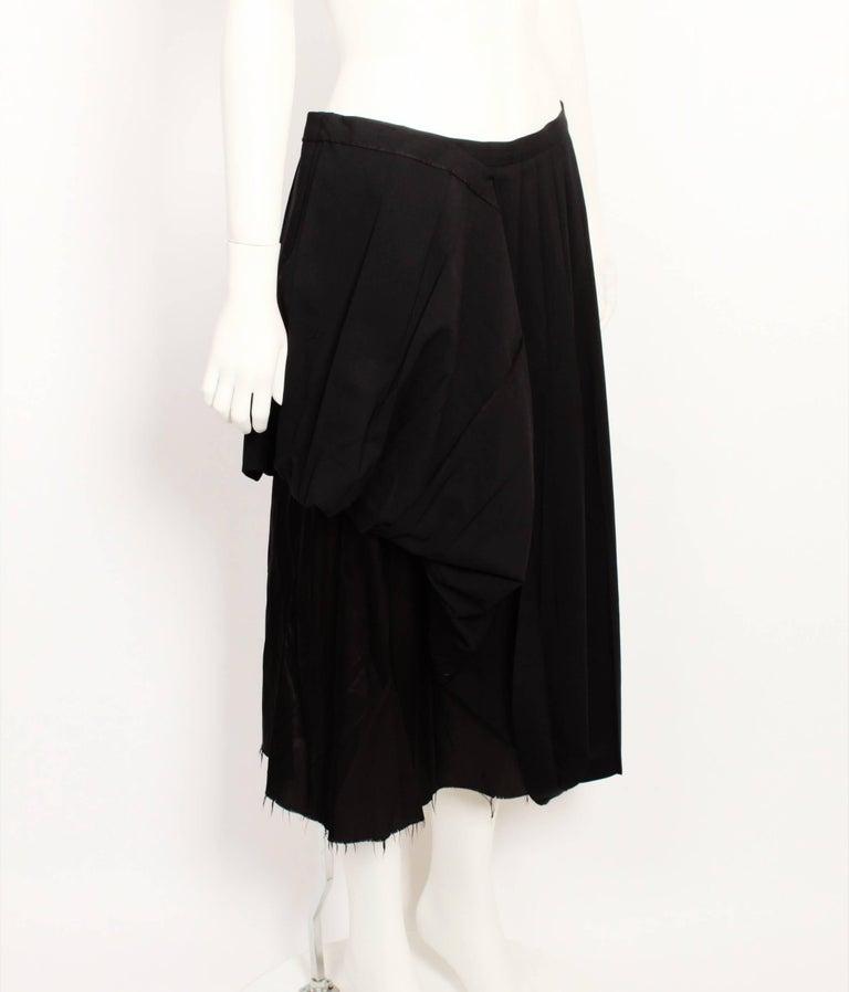 Black Martin Margiela Pleated Deconstructed Skirt For Sale