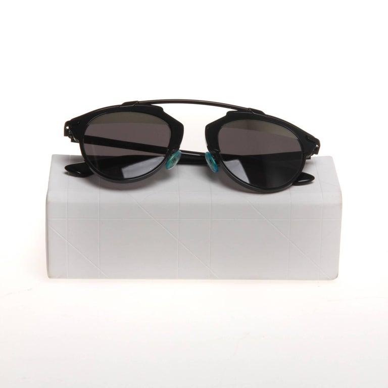28c221887fd4 Black metal Christian Dior So Real aviator sunglasses with split mirrored  lenses