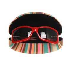 Missoni Red Rectangle Wrap Sunglasses