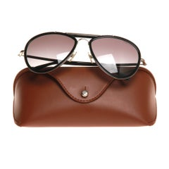 Ralph Lauren Black Aviator Sunglasses