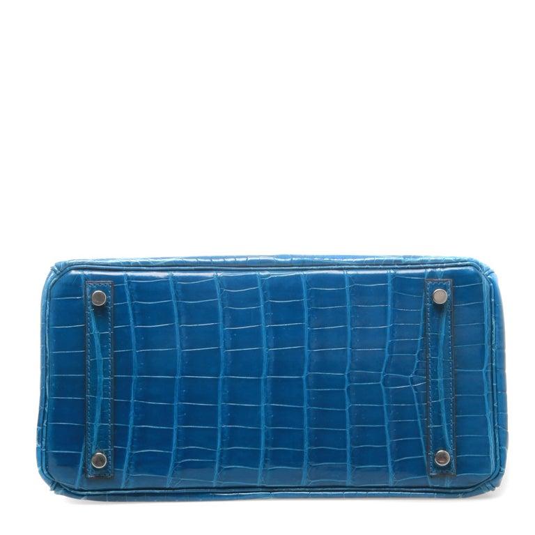 Hermès Birkin 30 Crocodile Mykonos Bag  In Good Condition For Sale In Melbourne, Victoria