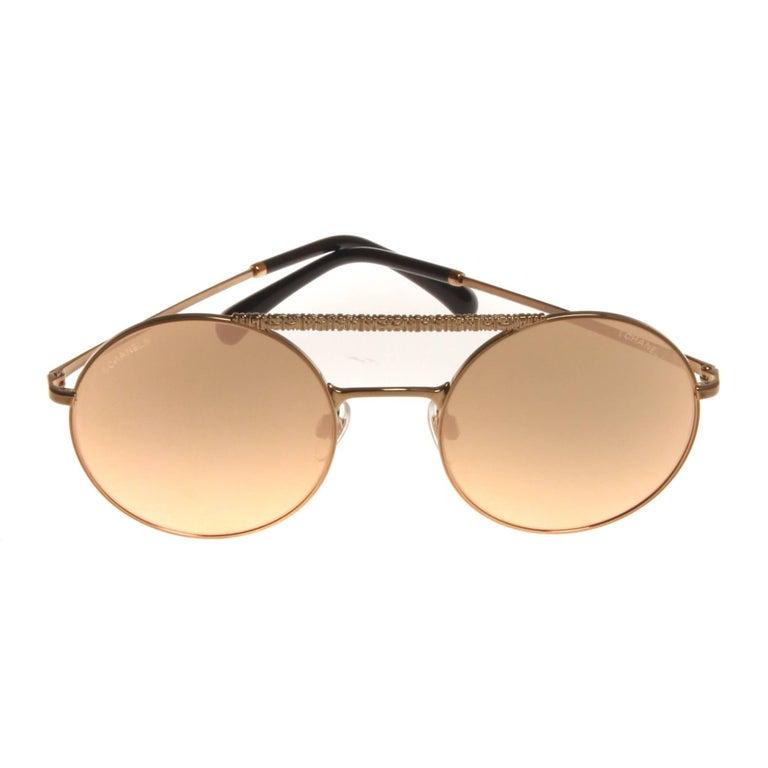 676ef605bf Chanel rose gold sunglasses at 1stdibs