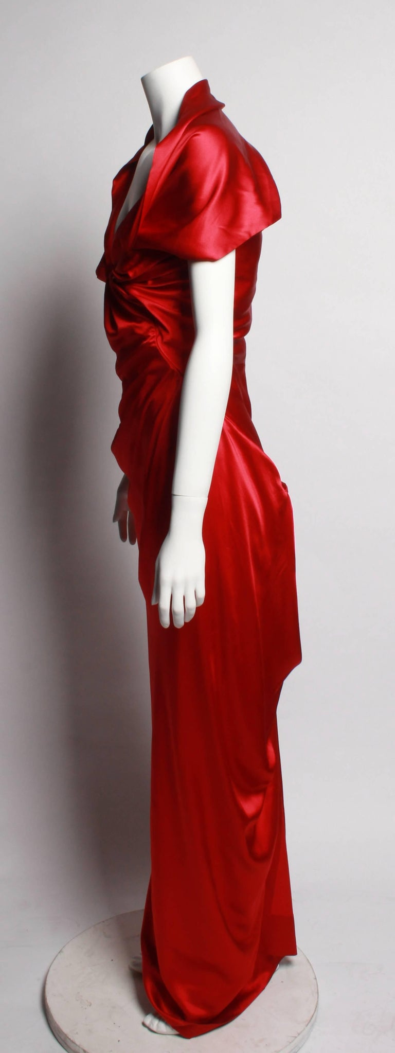 Red Vivienne Westwood Basque Evening Gown With D Neckline For
