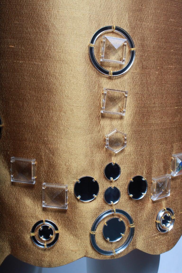 Miu Miu Gold Party Dress For Sale 1