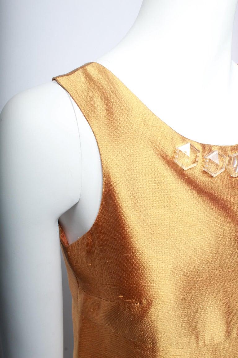 Miu Miu Gold Party Dress For Sale 3
